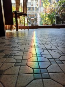 rainbow appear in campbell antique hotel floor